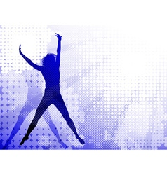 Silhouettes of a Jumping Girl vector image