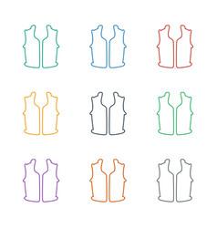 Sleeveless shirt icon white background vector