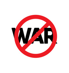 Stop war text label template design vector