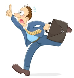 stressed running worker vector image vector image