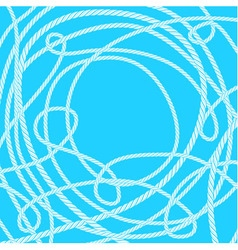 Tangled rope background vector image