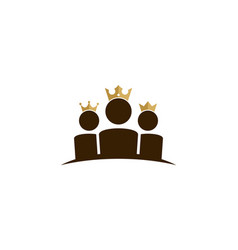 team king logo icon design vector image