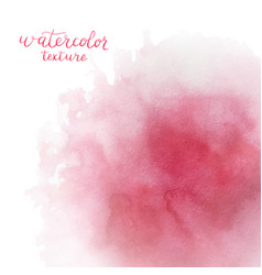 Watercolor pink background with space for text vector
