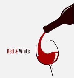 wine bottle logo wine glass and bottle on white vector image