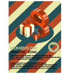 womens day isometric poster vector image