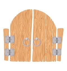 Wooden cartoon gate vector