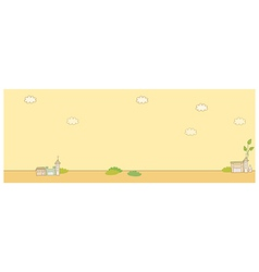 Cute landscape background vector image vector image