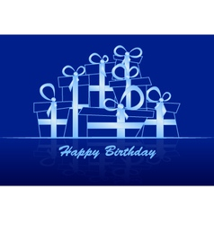 Greeting Card with gifts vector image vector image