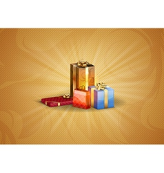 christmas background shine gold vector image vector image
