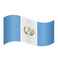 flag of guatemala waving on white background vector image vector image