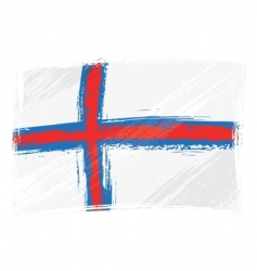grunge Faroe Islands flag vector image vector image