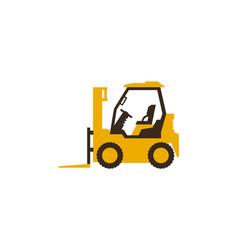 Icon forklift truck construction machinery vector