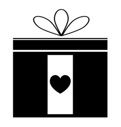 present icon black color icon vector image