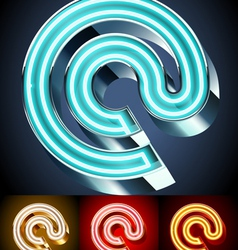 Realistic neon tube alphabet for light board vector image vector image