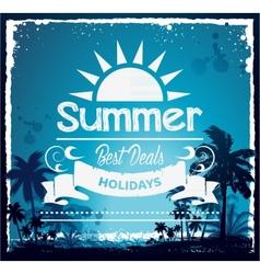 Summer beach Hawaii background vector image