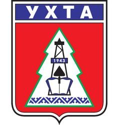 Ukhta vector image