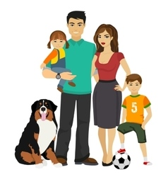 Young happy Family vector image vector image