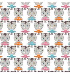 cat ballerina pattern dancing cat vector image