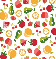Fruit background in Flat style vector image vector image