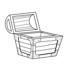 vintage coffer vector image vector image