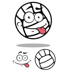 White cartoon volleyball ball vector