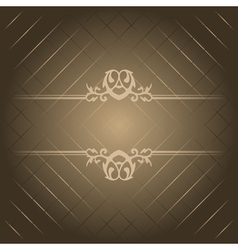brown luxury background vector image vector image
