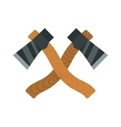Two axes timber lumberjack tools for chopping wood vector image vector image