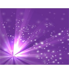 A purple color design with a burst and rays vector image