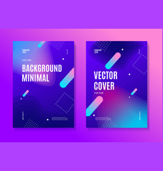 abstract colorful ad poster placard card set vector image