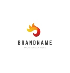 Abstract creative logo 3d fire flame shapes vector image