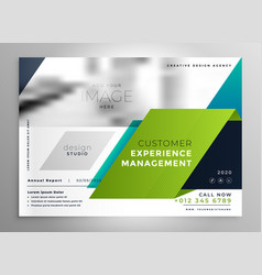 abstract stylish brochure presentation template vector image