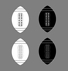 american football black white outline vector image