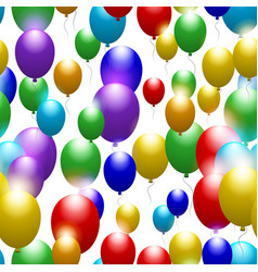 balloons of all colors of the rainbow seamless vector image