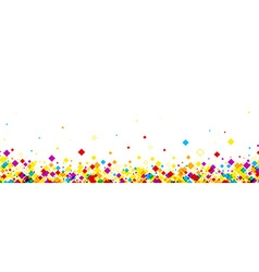 Banner with color rhombs vector image vector image