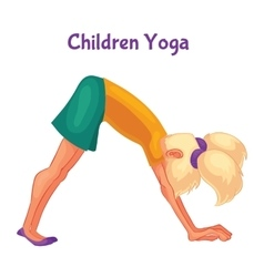 blond haired girl doing yoga vector image