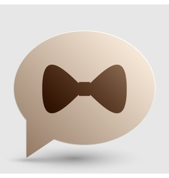 Bow Tie icon Brown gradient icon on bubble with vector image