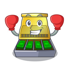 Boxing electronic cash register isolated on a vector