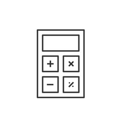 calculator line icon vector image