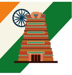 Chennai city monument flag indian vector