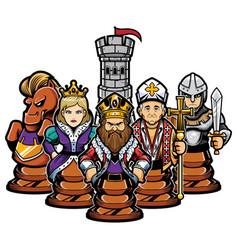 Chess team concept vector