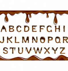 chocolate alphabet vector image vector image