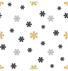 Christmas snowflakes background in different color vector