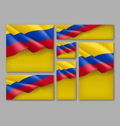 Colombian patriotic festive banners set vector