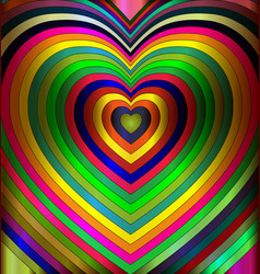 Colored abstract hearts vector