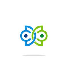 Connection abstract logo vector