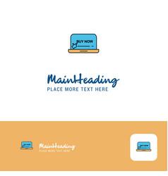 creative online shopping logo design flat color vector image