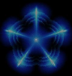 Dots digital form vector image