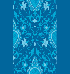 elegant turquoise pattern vector image