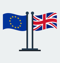 flag of united kingdom and european union vector image