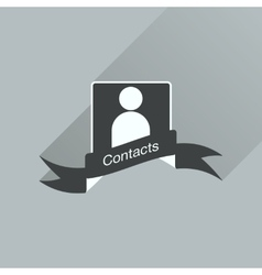 Flat icon with long shadow mobile phone contacts vector